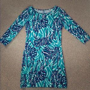 Zebra Lilly Shift dress